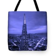 The Transamerica Pyramid At Sunset Tote Bag