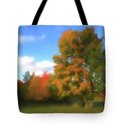 The Transition From Summer To Fall. Tote Bag