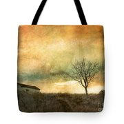 The Tree And The Roof Top Tote Bag