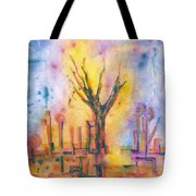 The Tree On The Road. 19 March, 2016 Tote Bag