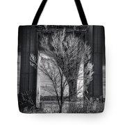 The Tree Under The Bridge Tote Bag