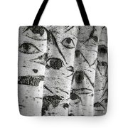 The Trees Have Eyes Tote Bag by Wim Lanclus