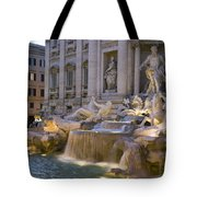 The Trevi Fountain At Dusk Tote Bag