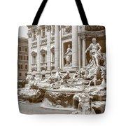 The Trevi Fountain In Sepia Tones Tote Bag