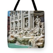 The Trevi Fountain In The City Of Rome Tote Bag