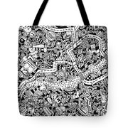 The Trip Tote Bag by Chelsea Geldean
