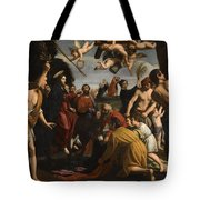 The Triumphal Entry Of Christ In Jerusalem Tote Bag