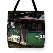 The Trolley Out Back Tote Bag