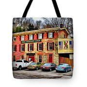 The Trolley Stop Tote Bag
