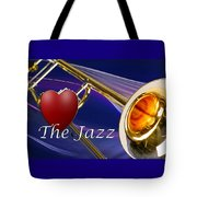 The Trombone Jazz 001 Tote Bag