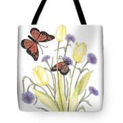 The Tulip And The Butterfly Tote Bag