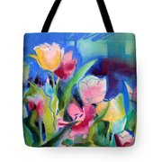 The Tulips Bed Rock Tote Bag