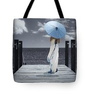 The Turquoise Parasol Tote Bag