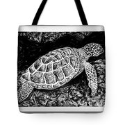 The Turtle Searches Tote Bag
