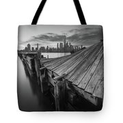 The Twisted Pier Bw Tote Bag
