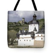 The Two Castles Of Kaub Germany Tote Bag