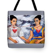 The Two Delevingnes Tote Bag