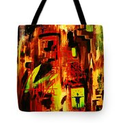 The Two Jugglers In Blue Tote Bag