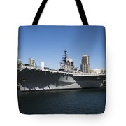 The U S S Midway Docked In San Diego Tote Bag