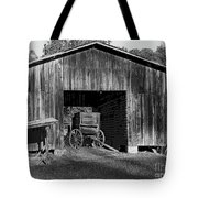 The Undertaker's Wagon Black And White 2 Tote Bag