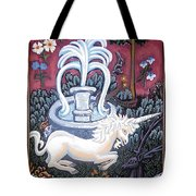 The Unicorn And Garden Tote Bag by Genevieve Esson