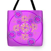 The Universal Spin Of Violet Tote Bag