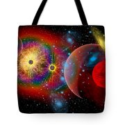 The Universe In A Perpetual State Tote Bag by Mark Stevenson