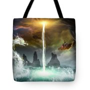 The Universe Of Dragons Tote Bag