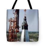 The Unmanned Mercury-atlas Capsule Sits Tote Bag