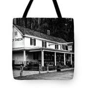 The Valley Green Inn In Black And White Tote Bag