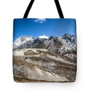 The Valley Leading To Mt Everest In Nepal Tote Bag