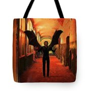 The Vampire Beckons Tote Bag