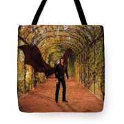 The Vampire In The Garden Tote Bag