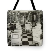 The Verandah Cafe Of The Titanic Tote Bag by Photo Researchers
