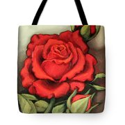 The Very Red Rose Tote Bag