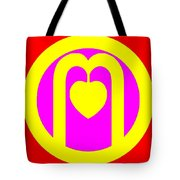The Very Secret Sacred Heart Of Om Tote Bag by Eikoni Images