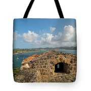 The View From Fort Rodney On Pigeon Island Gros Islet Caribbean Tote Bag