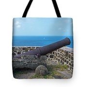 The View From Fort Rodney On Pigeon Island Gros Islet Saint Lucia Cannon Tote Bag