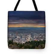 The View From Pittock Mansion Viewpoint Tote Bag