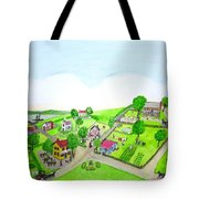 The Village - Colonial Style Art Tote Bag
