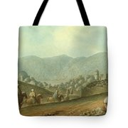 The Village Of Betania With A View Of The Dead Sea Tote Bag