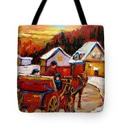 The Village Of Saint Jerome Tote Bag