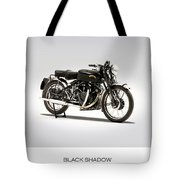 The Vincent Black Shadow Tote Bag