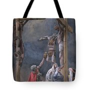 The Vinegar Given To Jesus Tote Bag