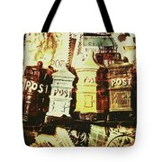 The Vintage Postage Card Tote Bag