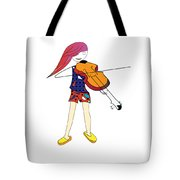 The Violin And The Girl Tote Bag