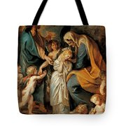 The Virgin Adorned With Flowers Tote Bag