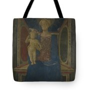 The Virgin And Child Enthroned Tote Bag