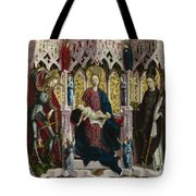 The Virgin And Child Enthroned With Angels And Saints Tote Bag