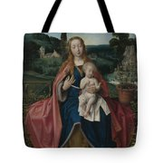 The Virgin And Child In A Landscape Tote Bag